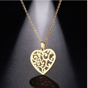 Floral Heart Shape Necklace